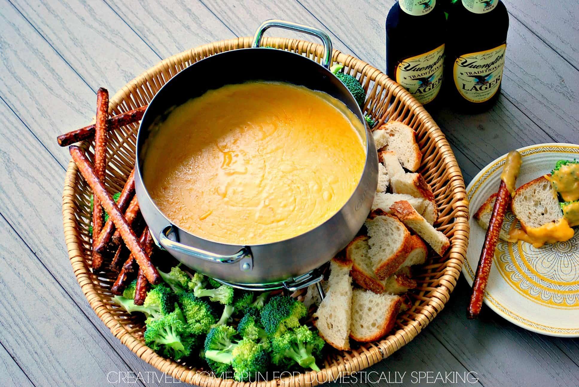 Fabulous Beer Cheese Fondue Recipe