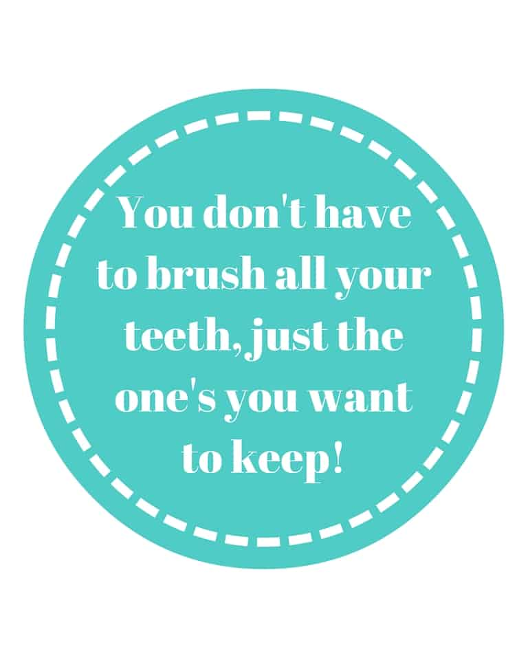 Healthy Teeth Printable with Teal Blue