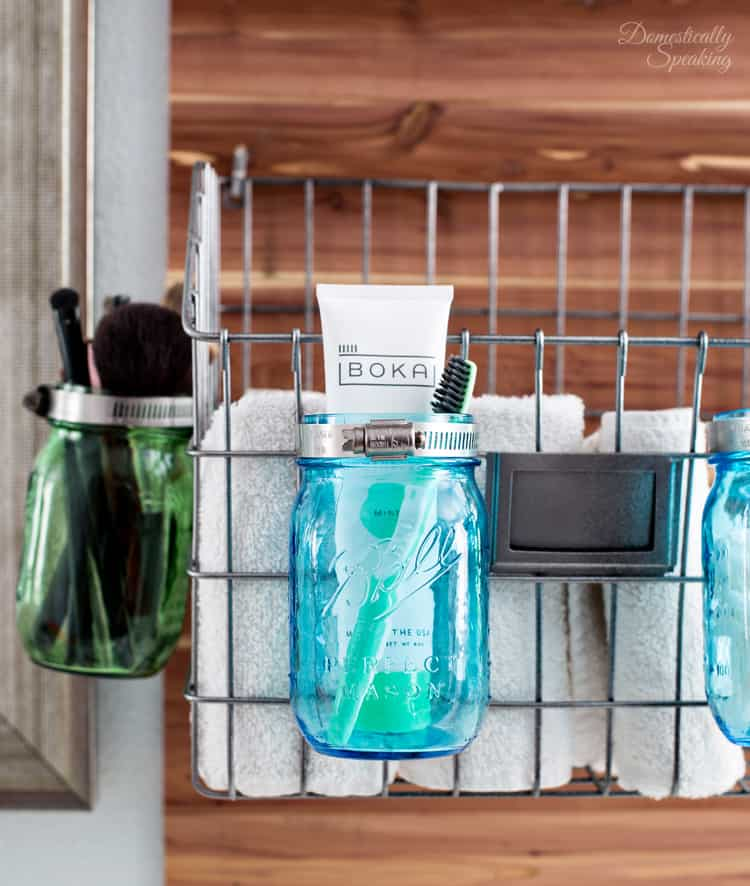 Mason Jar Toothbursh Holder for Toothbrush and Toothpaste