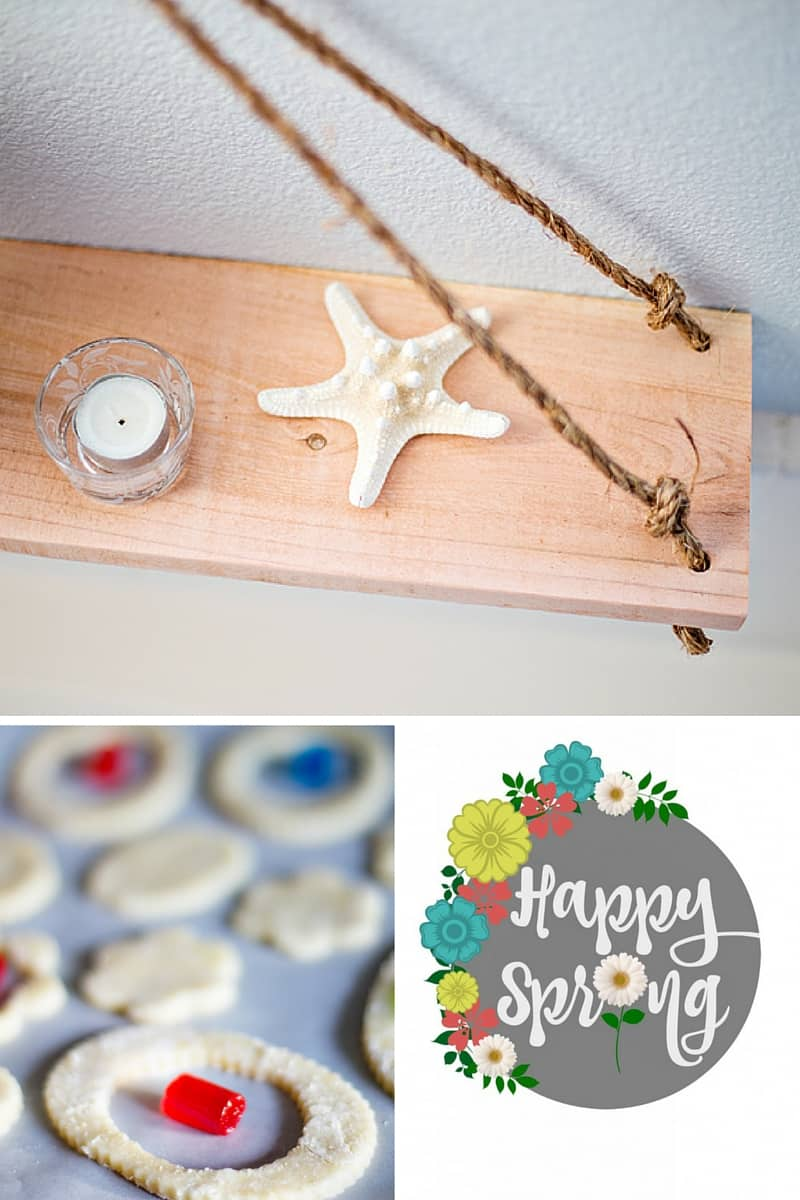 This week at Domestically Speaking Swing Shelf, Easter Cookies and Spring Printables