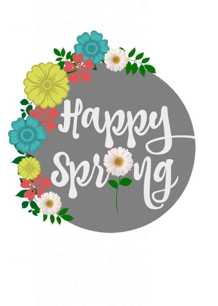 Free Happy Spring Printable