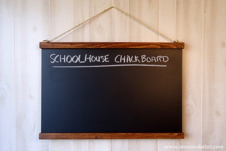 DIY Knockoff Schoolhouse Chalkboard