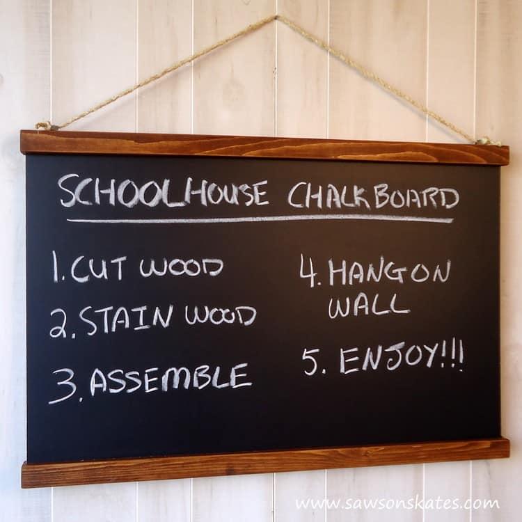 DIY Schoolhouse Chalkboard finished 2