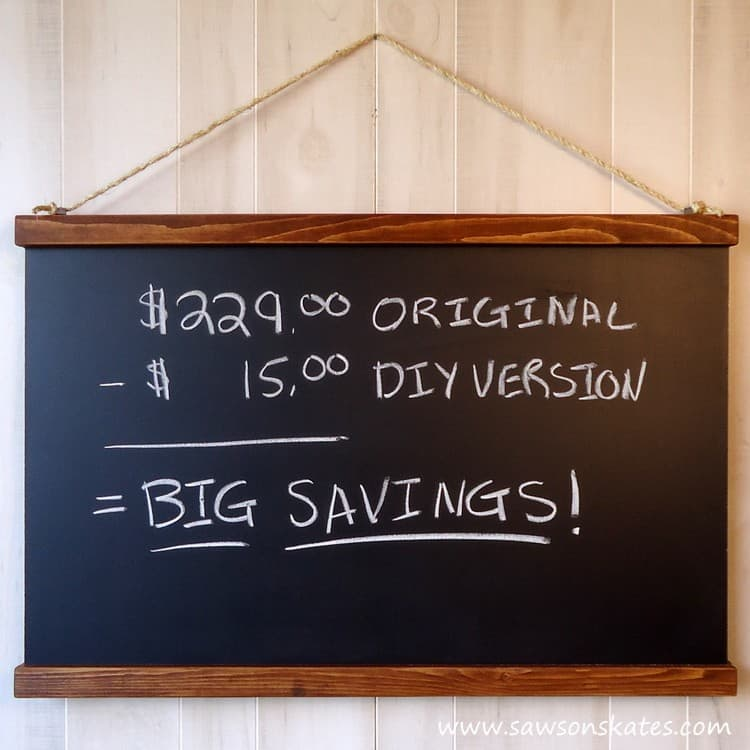 DIY Schoolhouse Chalkboard for only $15!