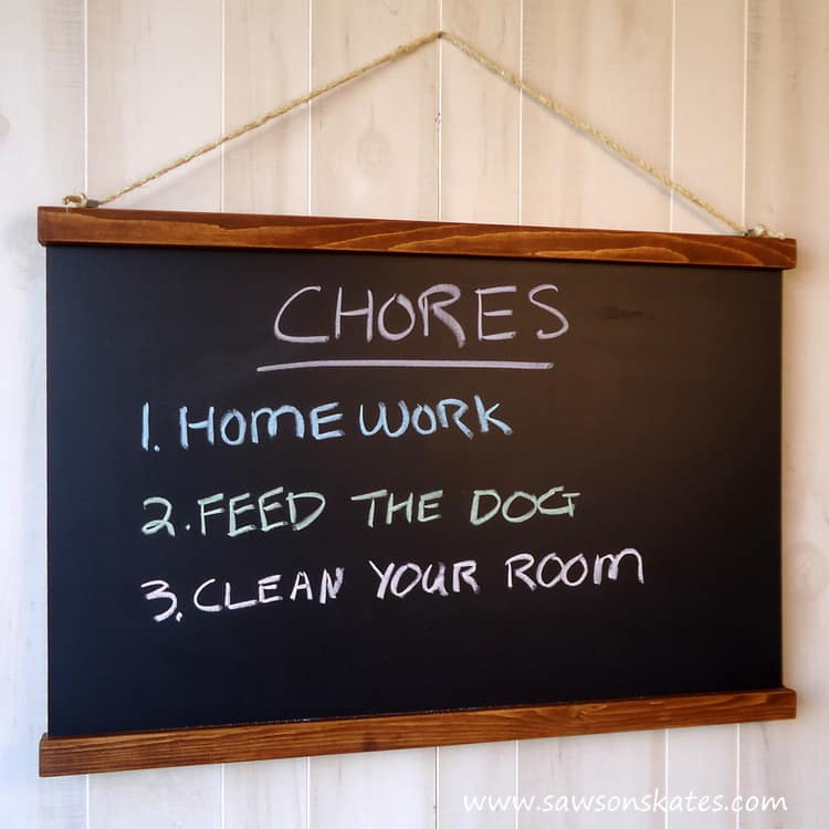 DIY Schoolhouse Chalkboard an easy project that is inspired from Ballard Designs
