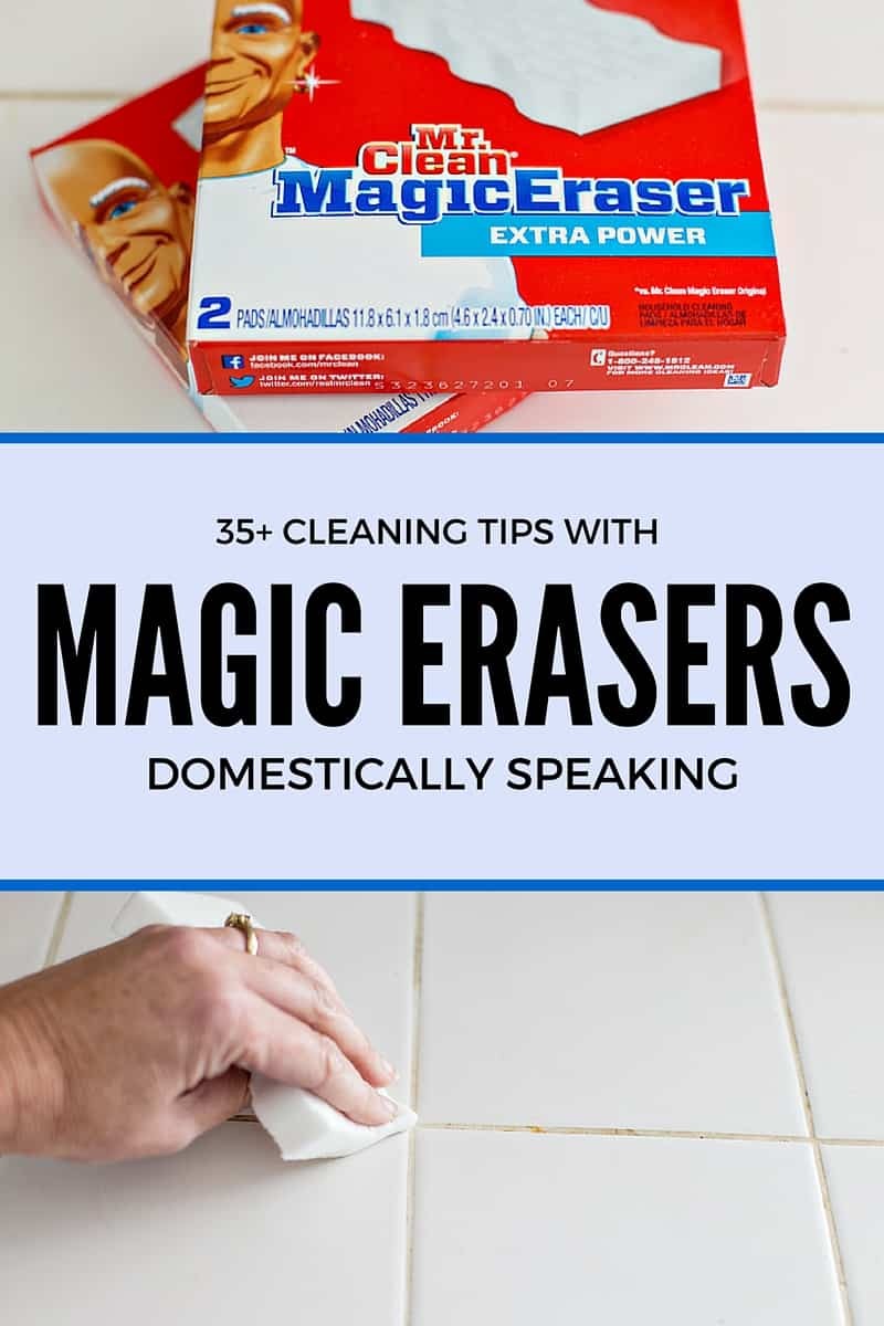 35+ Cleaning Tips with Magic Erasers
