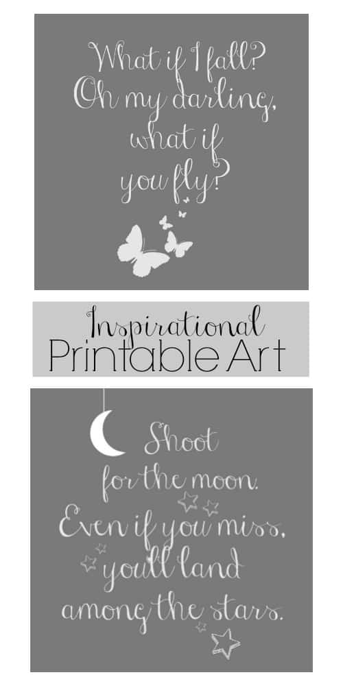 Free Inspirational Quotes Printable Art - 2 free printables that you'll love!