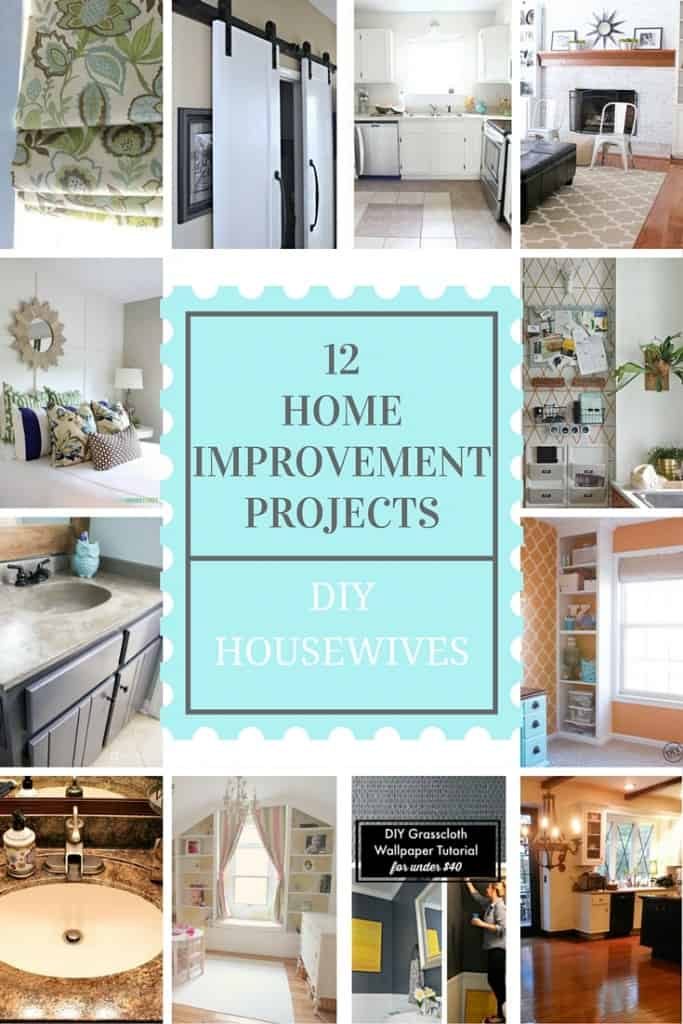 12 DIY Home Improvement Projects you can tackle!