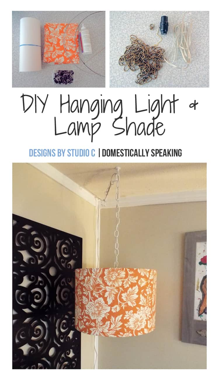 Diy hanging light lamp shade domestically speaking indoor hanging light with lamp shade diy save this would be perfect in the dark corner of my family room a aloadofball Image collections