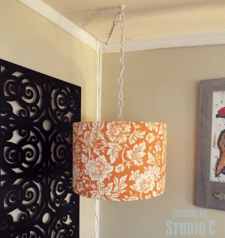 Diy hanging light lamp shade domestically speaking diy hanging light and lamp shade perfect for that dark corner aloadofball Image collections