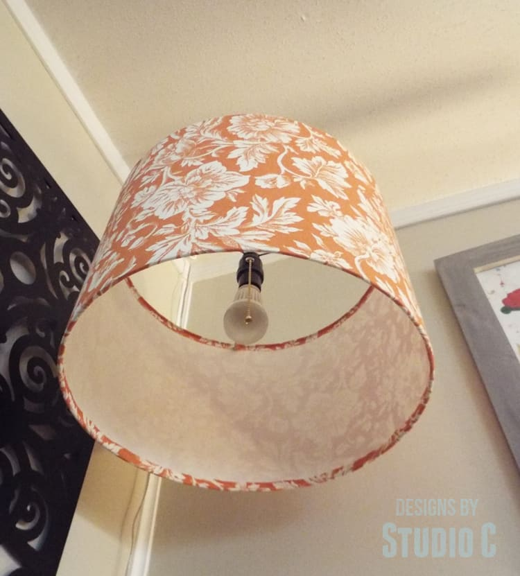 Indoor Hanging Light with Lamp Shade DIY