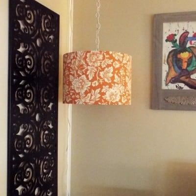DIY Hanging Light & Lamp Shade