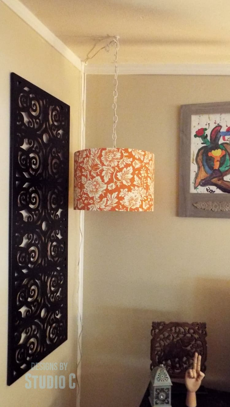 How to make a Hanging Light and Lamp Shade
