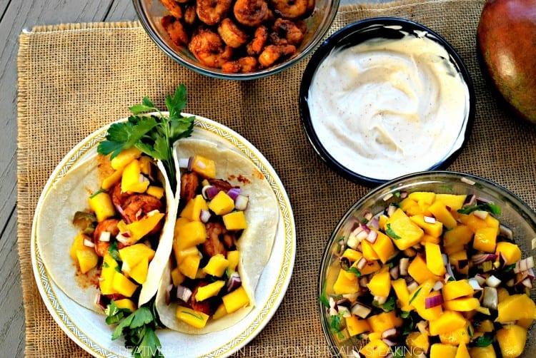 20 Minute Dinner Recipe - Shrimp and Mango Salsa Tacos