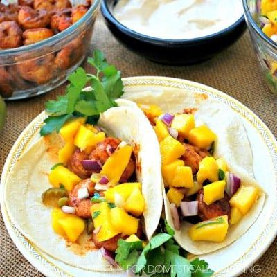 Shrimp and Mango Salsa Tacos