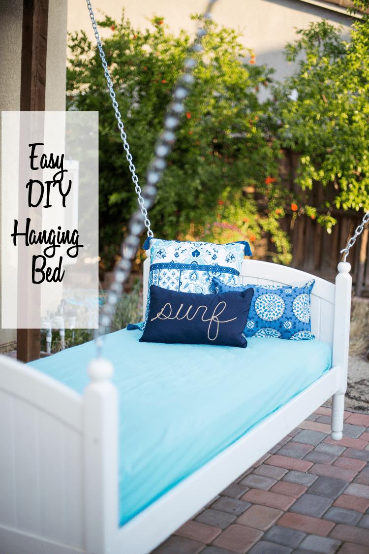 Easy DIY Hanging Bed