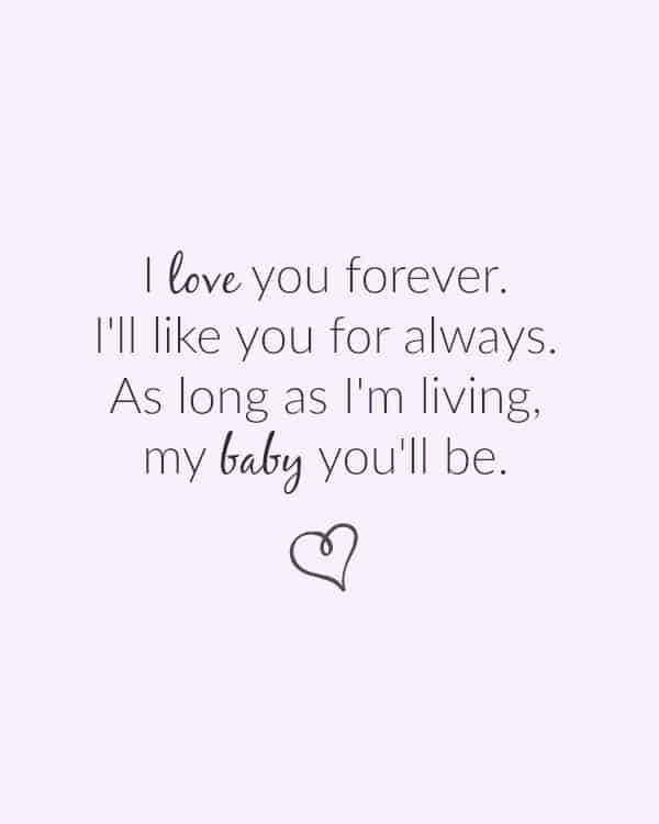 I love you forever Ill like you for always | Mother's Day or Nursery Printables that are FREE