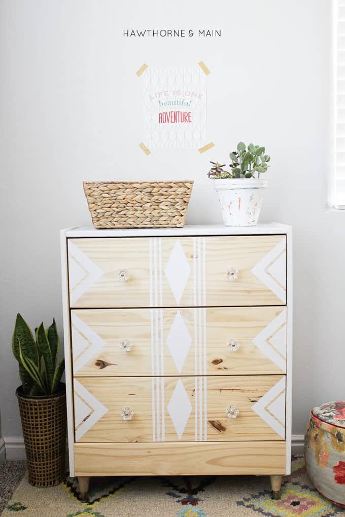 IKEA-rast-hack-paint-and-tape-tribal-3