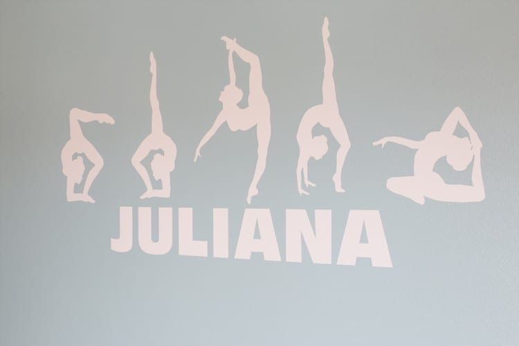 Personalized Gymnast Decal