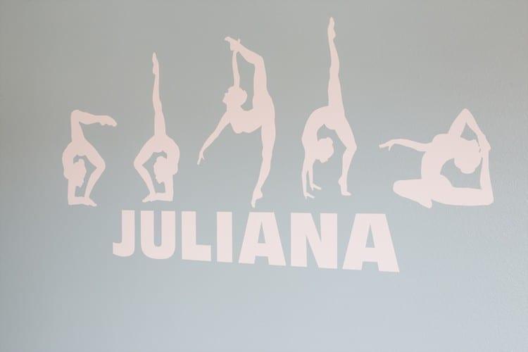 Personalized Gymnast Decal