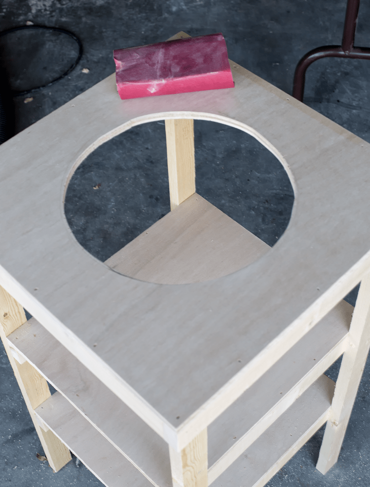 Beverage Stand Ready for Sanding