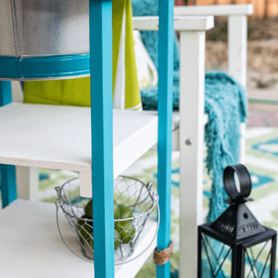 DIY Coastal Beverage Stand