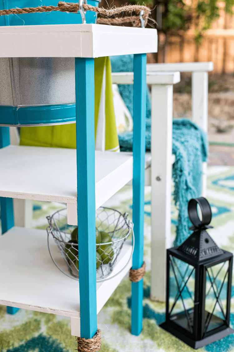 DIY Coastal Beverage Stand perfect for Parties