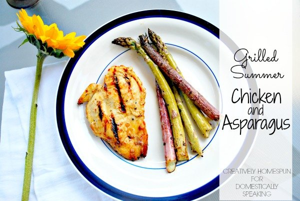 Grilled Chicken and Asparagus - the perfect summer dinner recipe