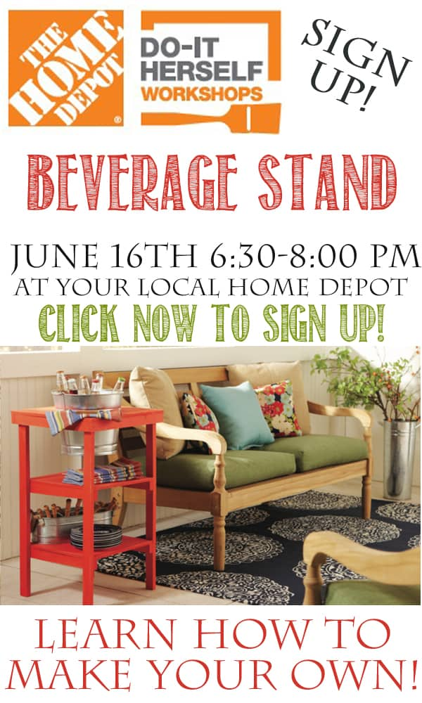 Home Depot DIH Workshop Beverage Stand