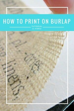 burlap printing