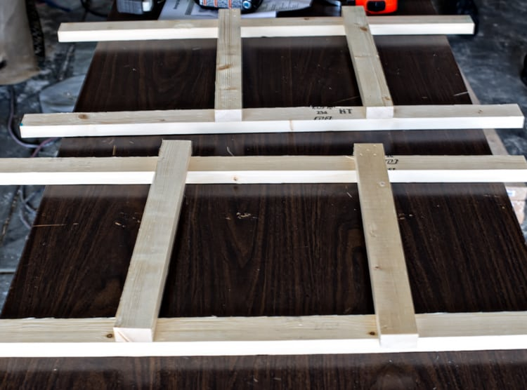 Legs of Beverage Stand ready for shelves