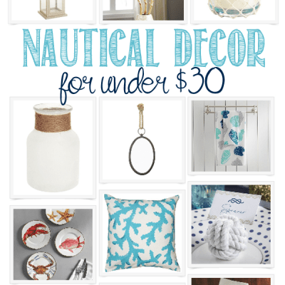 Nautical Home Decor Under $30