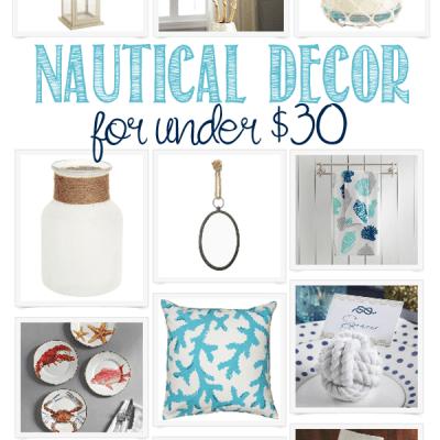 Nautical Home Decor Under $30