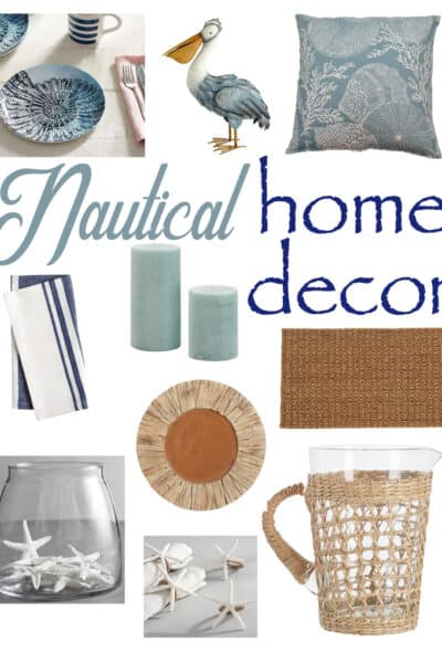 Nautical Home Decor to add that beautiful coastal look to your home.