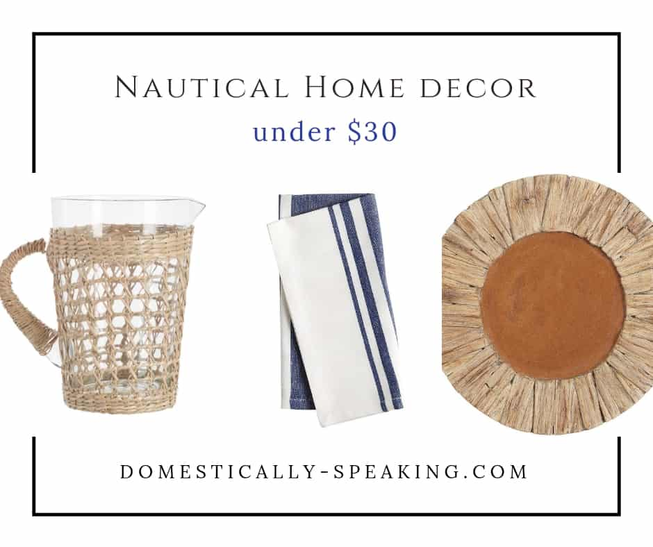 Cute Nautical Home Decor for under $30