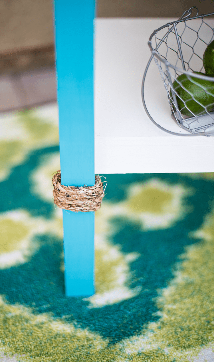 Nautical Rope Detail on a Coastal Beverage Stand you can build