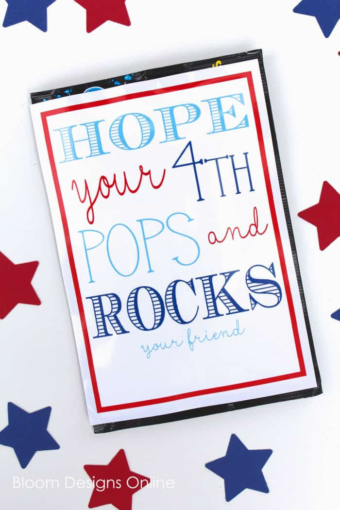 Pop and Rock July 4th Printable