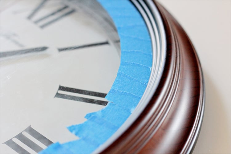 Prepping a thrift store clock for paint