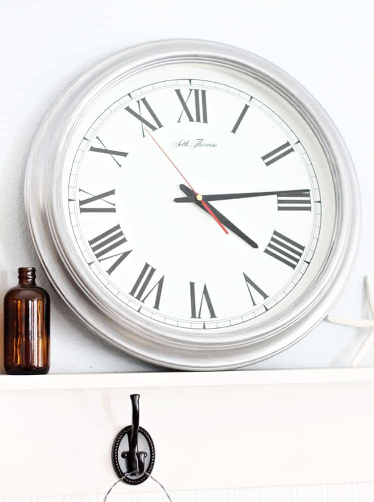 Thrift Store Clock | An Easy Paint DIY - Domestically Speaking