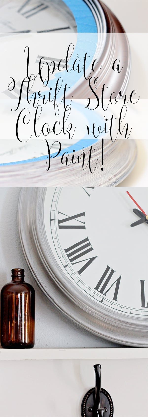 Update a Thrift Store Clock with Paint - It's Quick and Easy