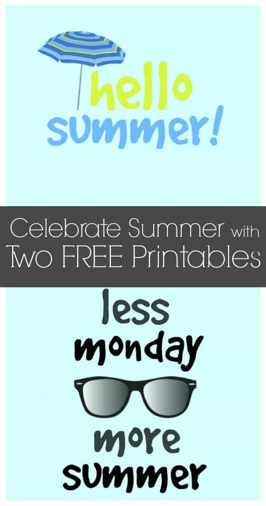 These are the cutest!!!  Celebrate summer with these two free printables
