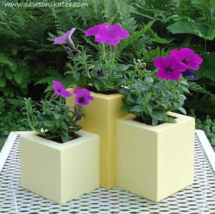 DIY Wood Planter pretty with flowers