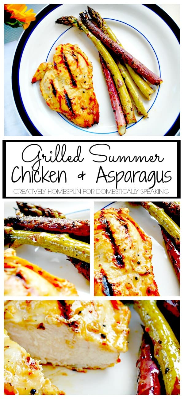 Easy Summer Dinner - Grilled Chicken & Asparagus - a delicious and quick dinner to put together