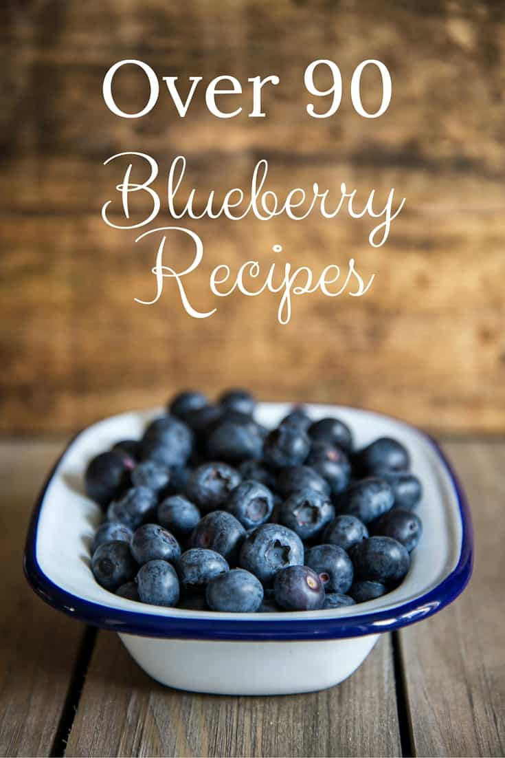 Over 90 Blueberry Recipes from blueberry muffins, to dinner recipes, desserts and more