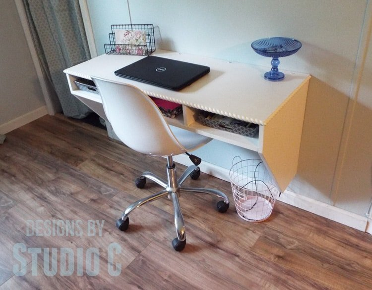 Space saving wall mounted desk you can make