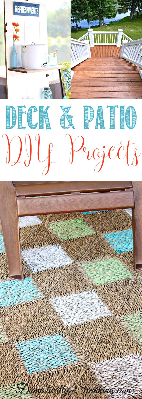 Deck and Patio DIY Projects you'll want to try - Amazing tutorials, Inspiring Ideas of project to help your outdoor spaces more