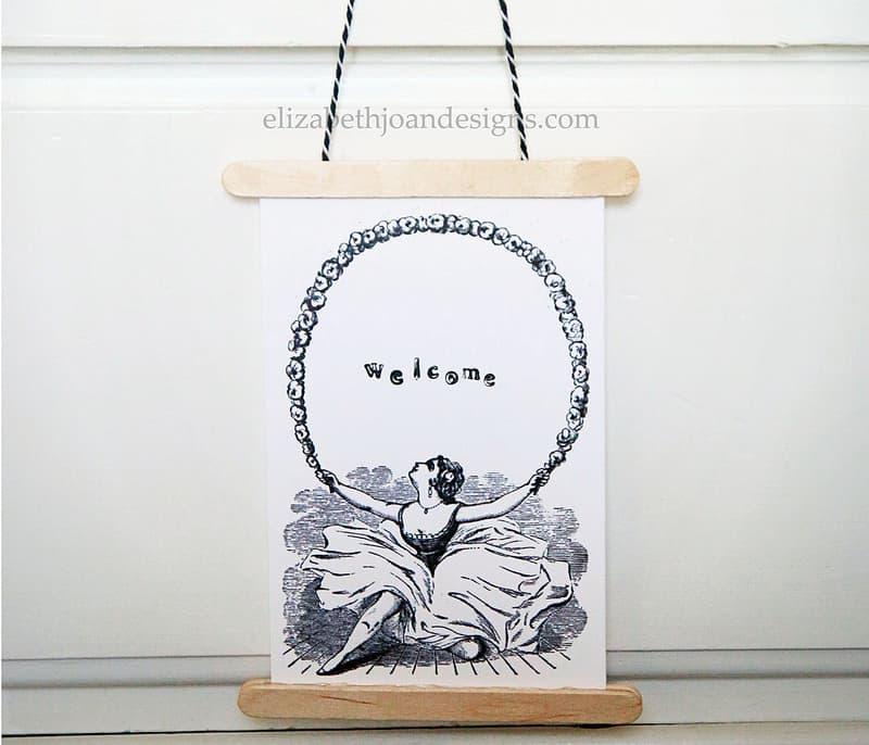 Simple Stamped Card Door Hanger