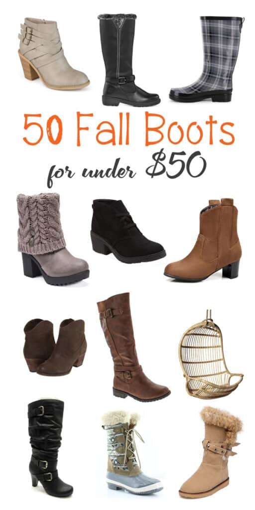 50 Fall Boots for Women that are under $50!!! Booties, Riding Boots, Rain Boots, Knee High, Wide Calf, Heeled and More!!!