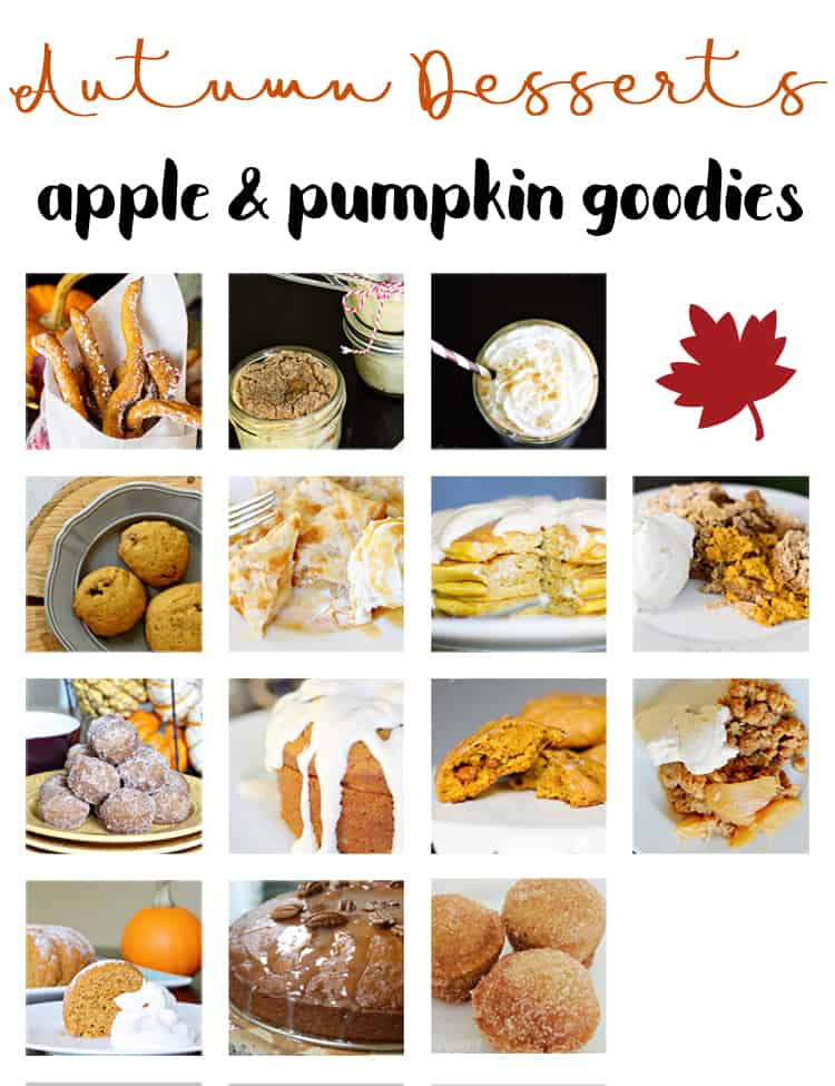 Fall Desserts loads of apple and pumpkin goodies for Autumn