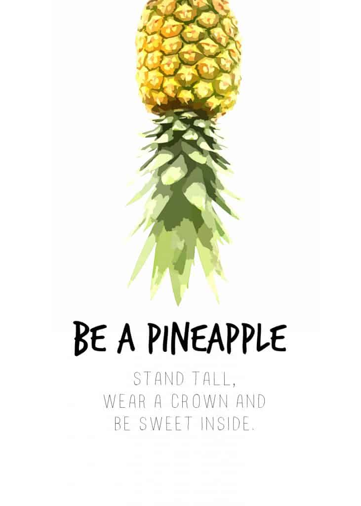 picture relating to Pineapple Printable referred to as Do ItBe A Pineapple - Regionally Chatting